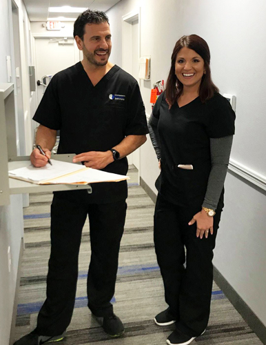 Dr Scolieri and Stephanie Mathews